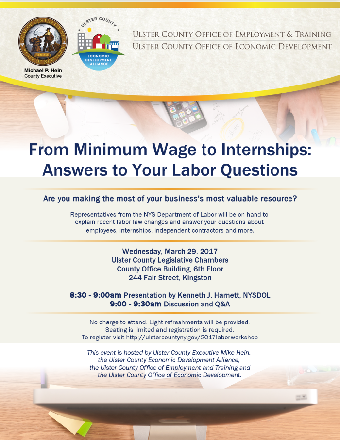 Q&A With NYS Department of Labor Scheduled for March 29