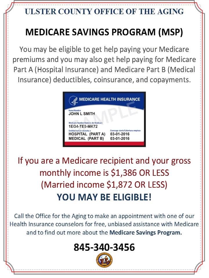 Medicare Savings Programs (MSP) | Ulster County