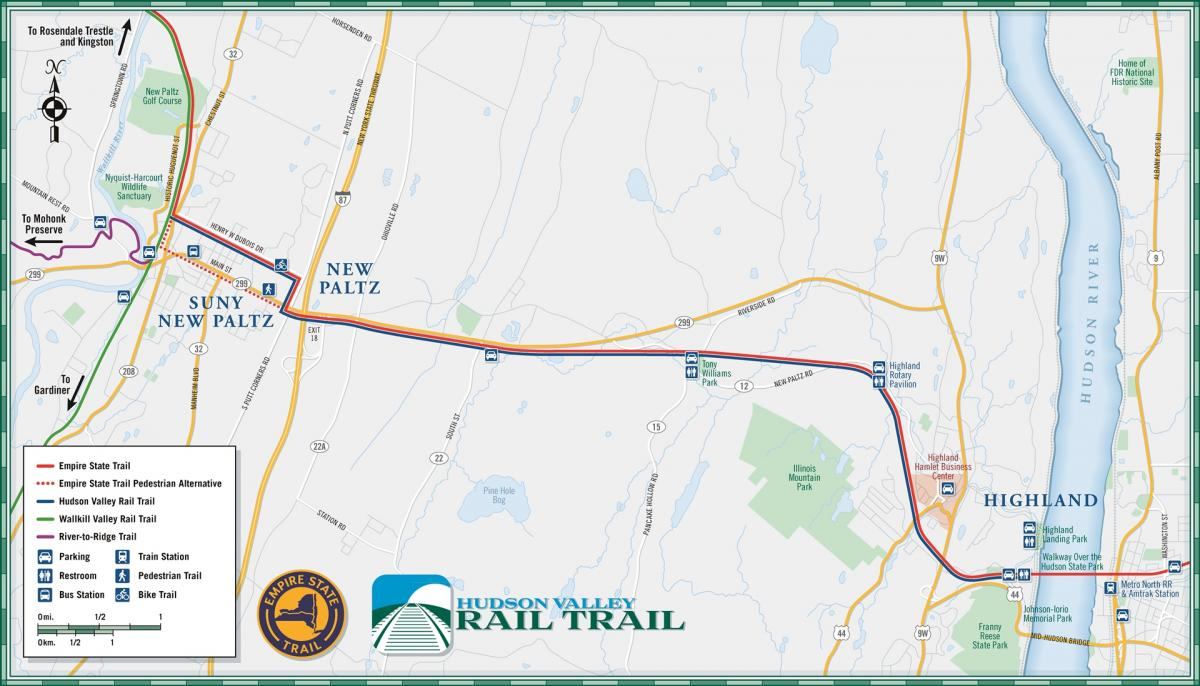 Hudson Ny Map >> Hudson Valley Rail Trail West Phase 4 Ulster County