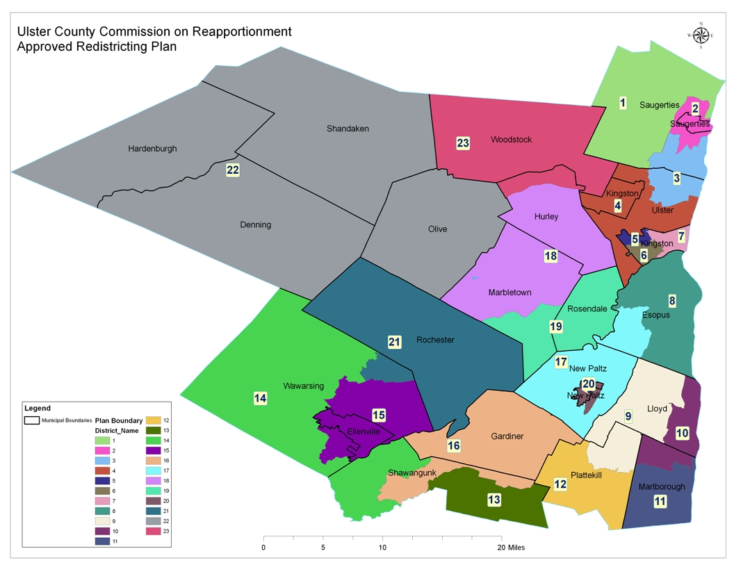 Legislative District Map | Ulster County