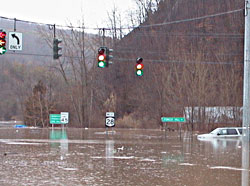 flood waters on Rt 28