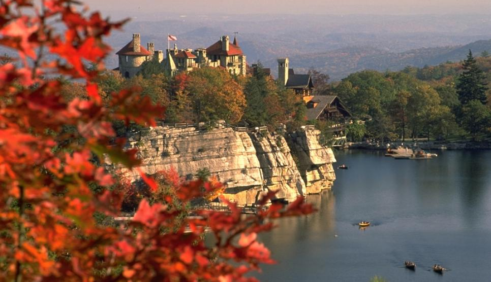 """Mohonk in Fall from Eagle Cliff"", G. Steve Jordan"